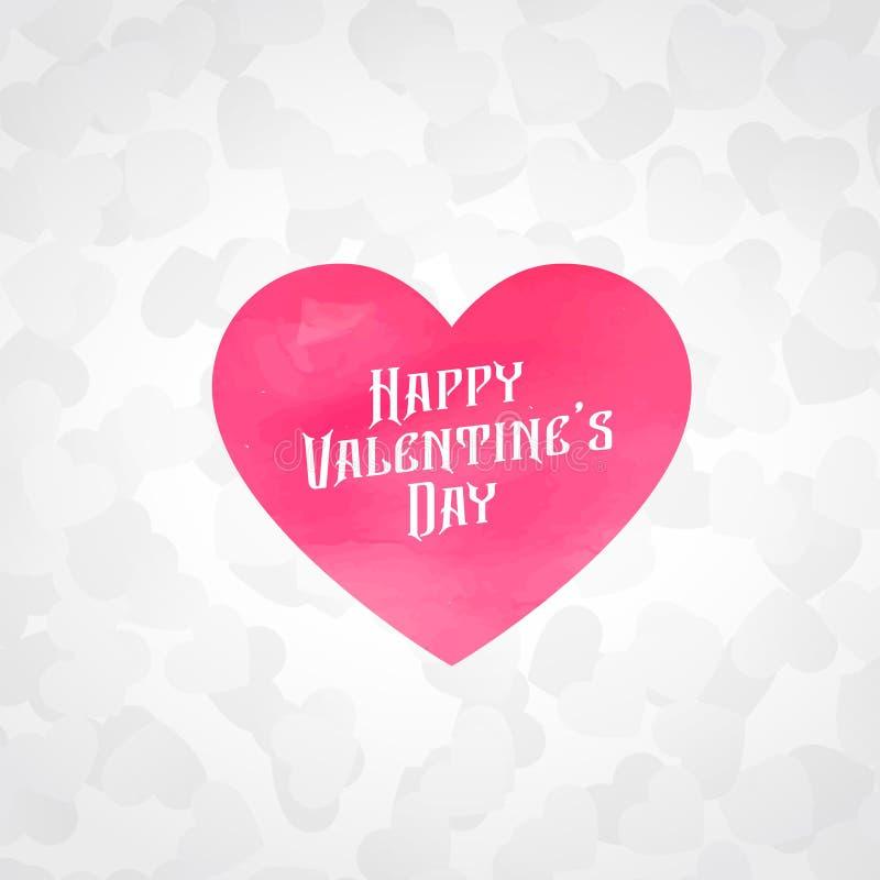 fundo branco do amor com coração cor-de-rosa ilustração do vetor