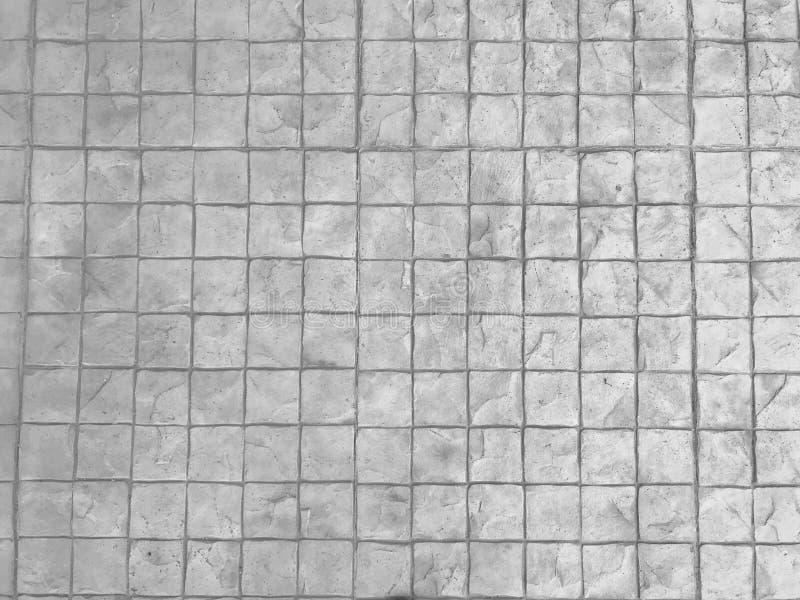 Fundo branco do pavimento da pedra da textura Parede quadrada do bloco do tijolo fotografia de stock royalty free