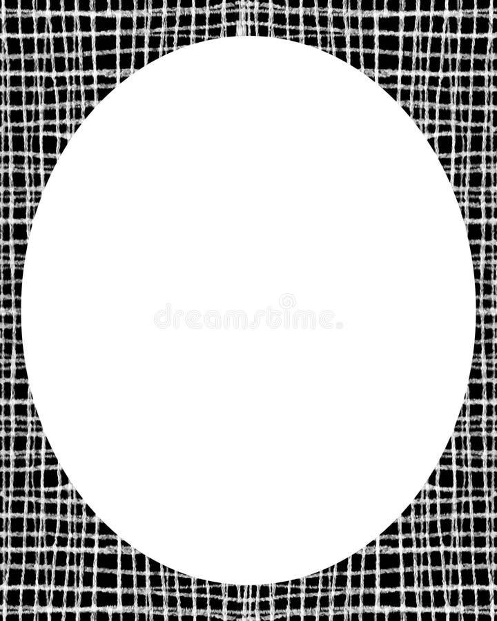 Fundo branco do quadro do círculo com beiras decoradas do projeto ilustração do vetor