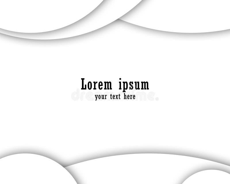 Fundo branco e cinzento do inclinação da cor, moderno e elegante ilustração do vetor