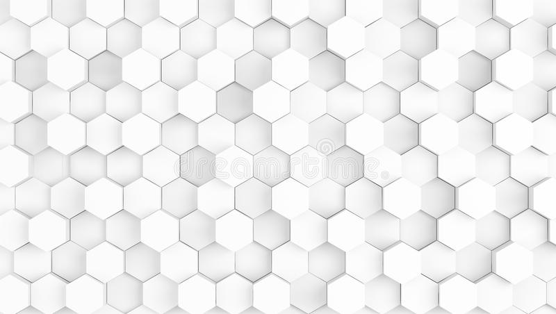 fundo branco geométrico abstrato da textura ilustração stock