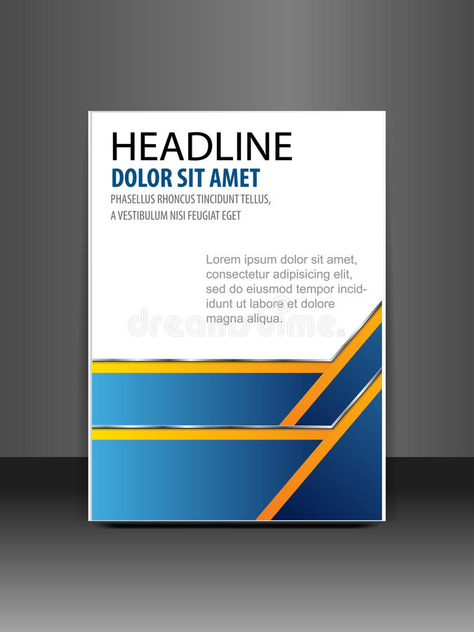 Fundo branco geométrico do sumário azul da apresentação da capa do livro, vetor do molde do projeto do inseto do folheto do relat ilustração do vetor