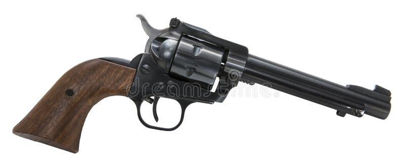 Fundo branco isolado arma de fogo do revólver fotos de stock royalty free