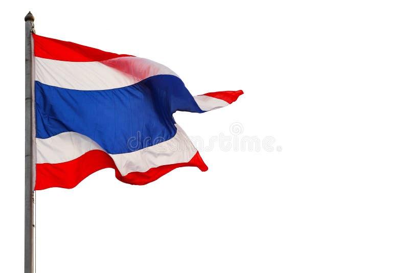 Fundo branco isolado tailandês da bandeira foto de stock
