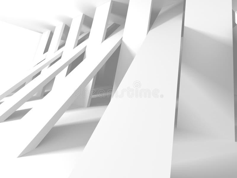 Fundo branco moderno abstrato da arquitetura ilustração do vetor