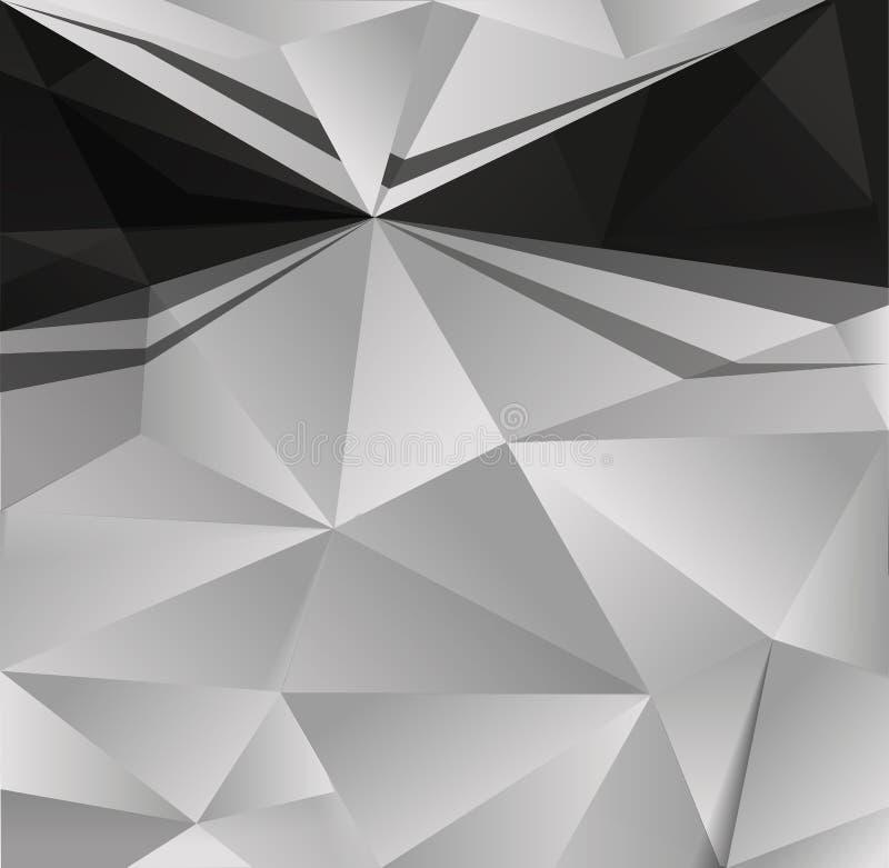 Fundo branco preto abstrato ilustração royalty free