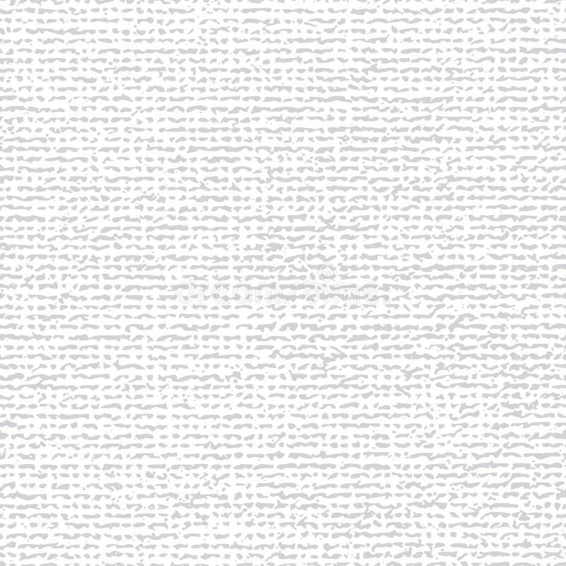 Fundo branco sem emenda da tela da lona ilustração do vetor