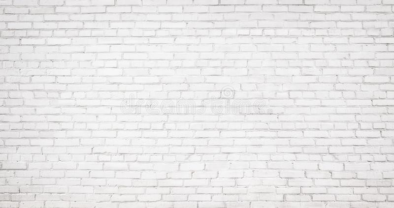 Fundo branco velho da parede de tijolo, textura do vintage do brickw claro imagem de stock royalty free