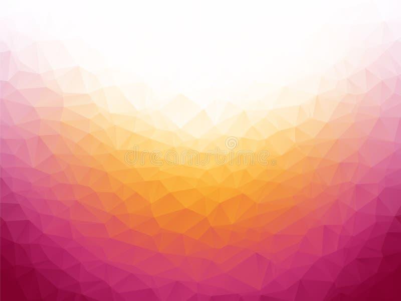 Fundo branco violeta amarelo ilustração do vetor