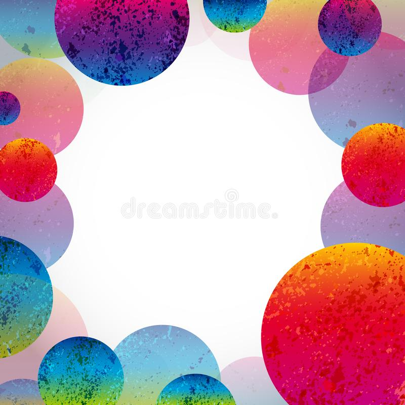 Fundo brilhante abstrato multicolorido Circunda elementos para o projeto ilustração royalty free
