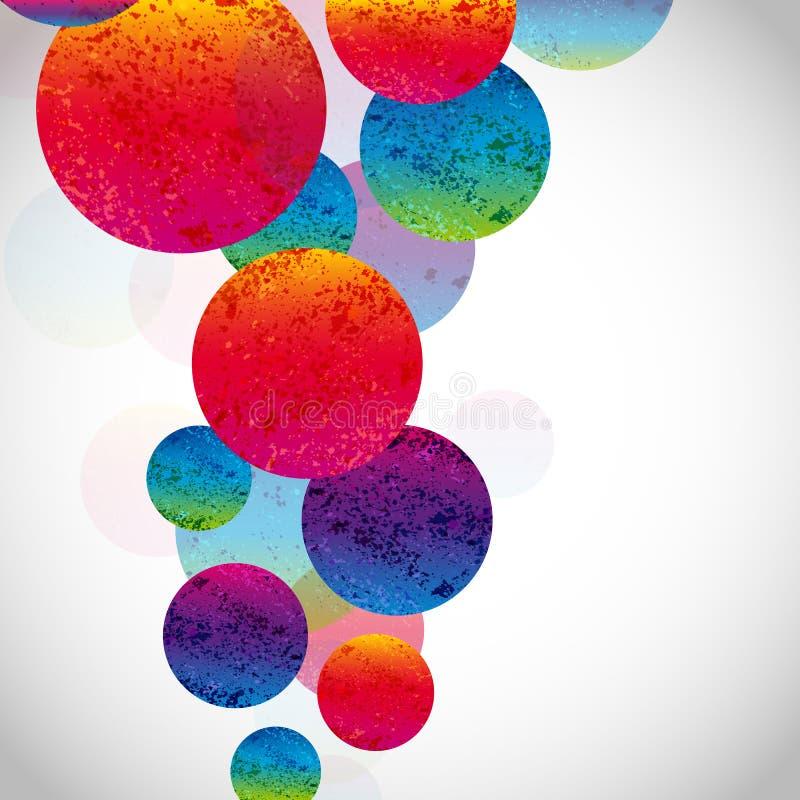 Fundo brilhante abstrato multicolorido Circunda elementos para o projeto EPS10 ilustração do vetor