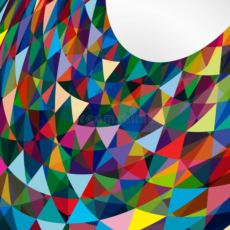 Fundo brilhante abstrato multicolorido com triângulos ilustração stock
