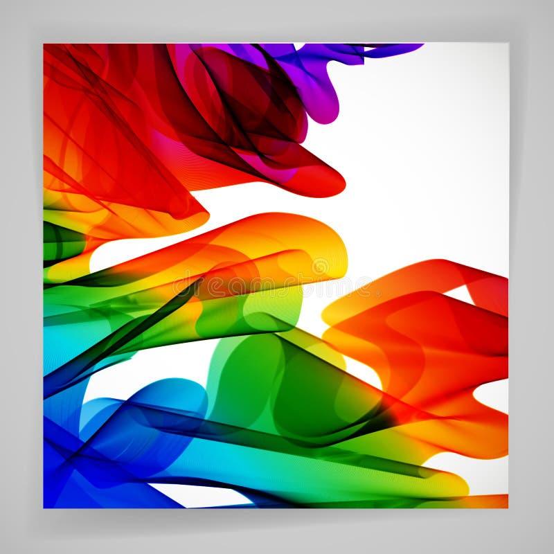 Fundo brilhante abstrato multicolorido Elementos para o projeto ilustração stock