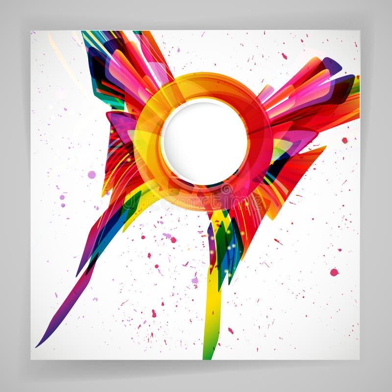 Fundo brilhante abstrato multicolorido Elementos para o projeto ilustração royalty free