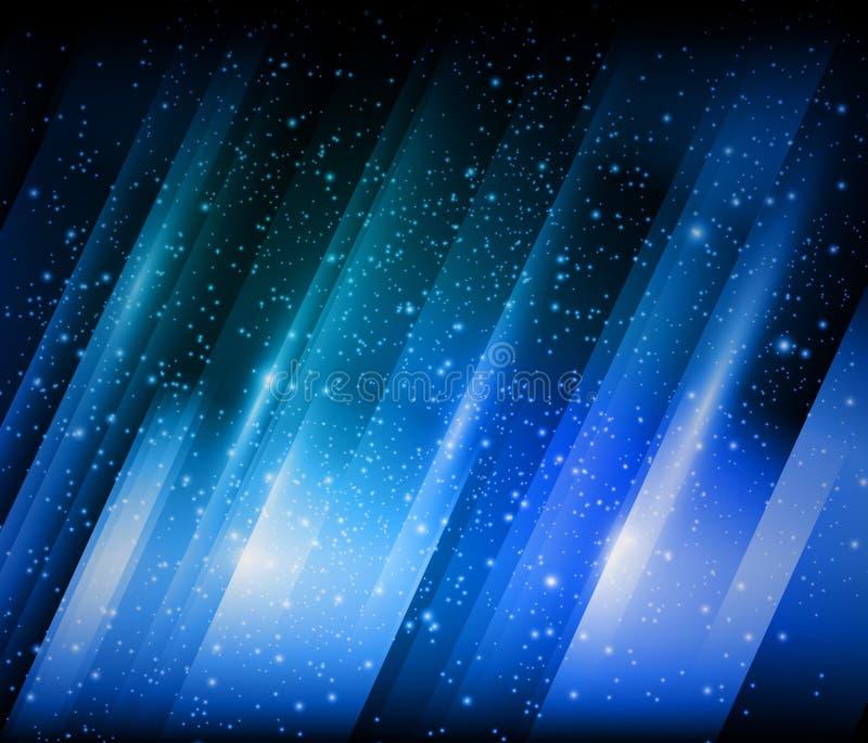 Fundo brilhante azul abstrato ilustração stock