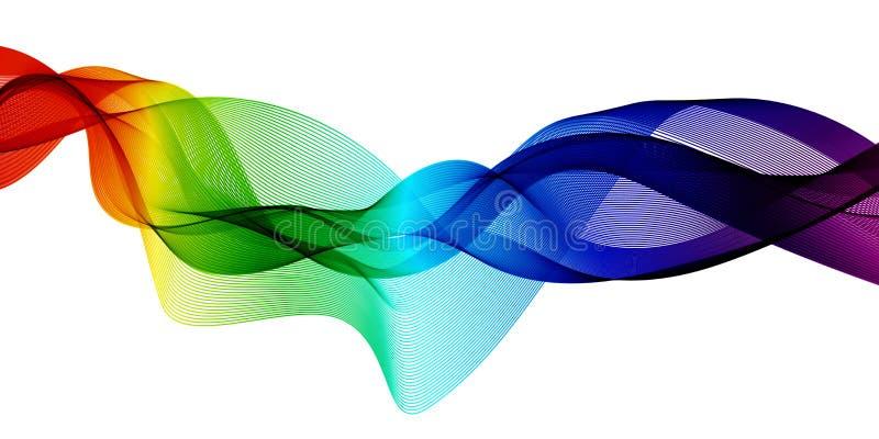 Fundo brilhante colorido abstrato com ondas imagens de stock royalty free