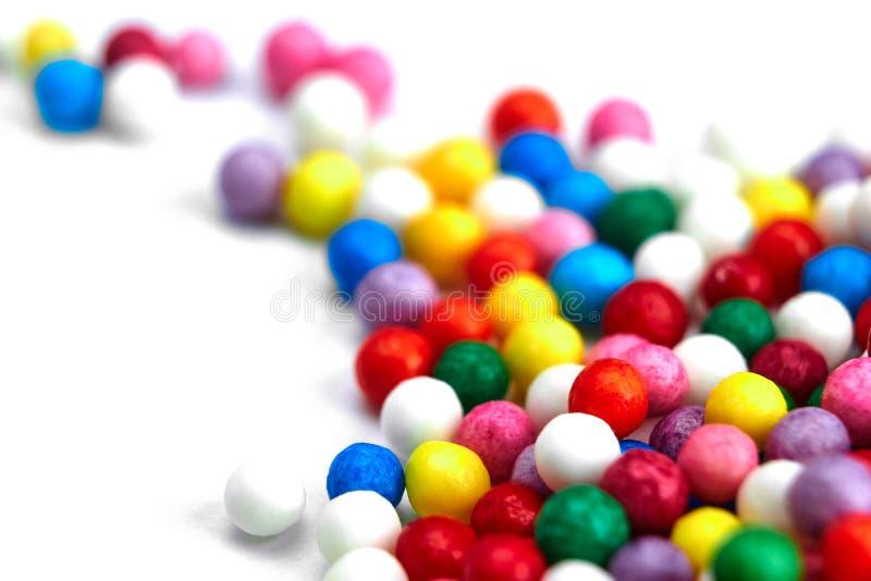 Fundo brilhante colorido, bolas multi-coloridas Doces agrad?veis doces do fundo fotos de stock