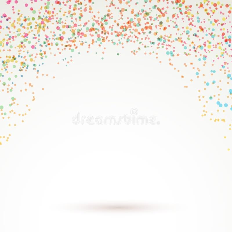 Fundo brilhante colorido do carnaval dos confetes ilustração do vetor