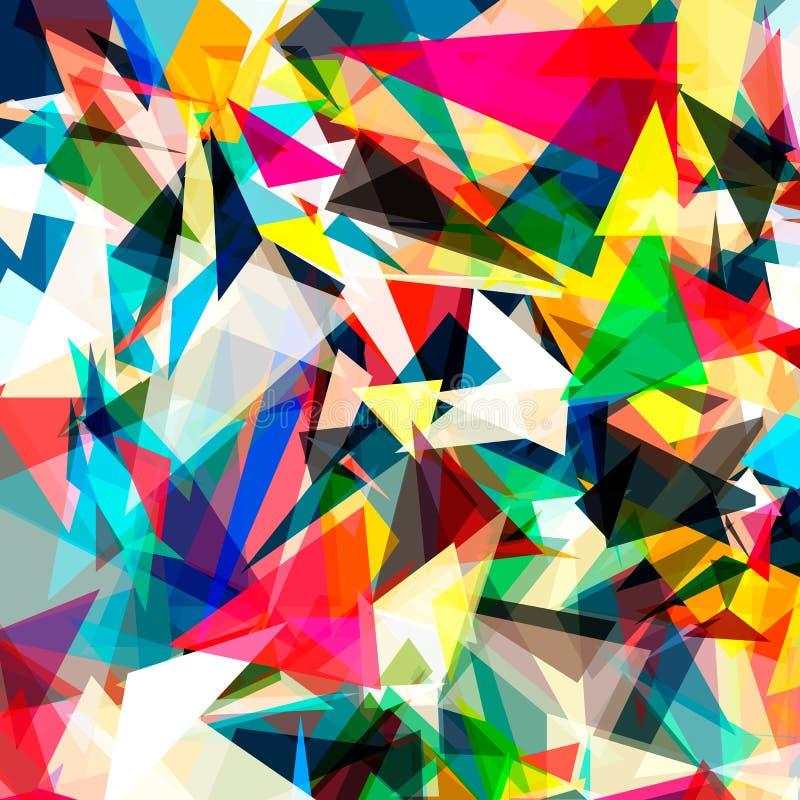 Fundo brilhante colorido do polígono do triângulo ou ilustração royalty free