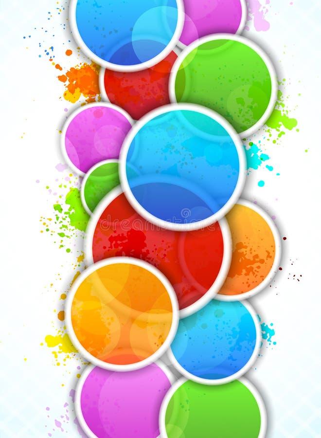 Fundo brilhante com círculos ilustração royalty free