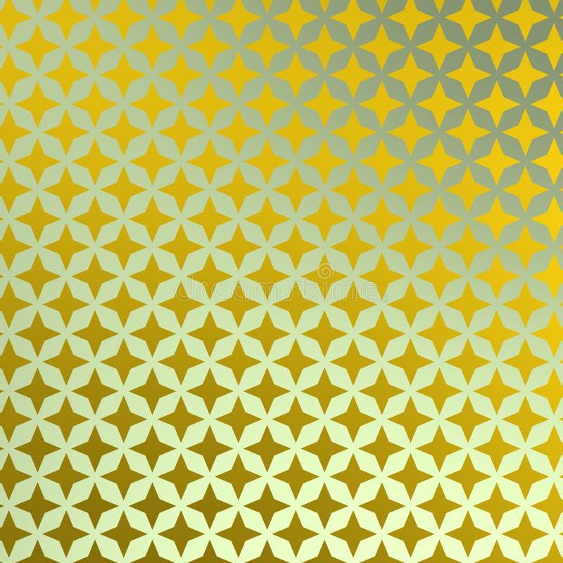 Fundo brilhante com estrelas amareladas ilustração do vetor