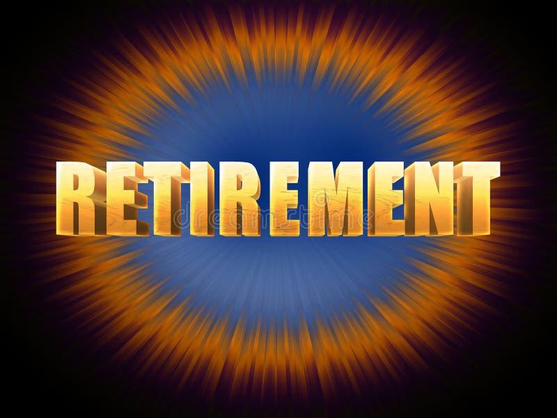 Fundo brilhante da aposentadoria dourada ilustração stock