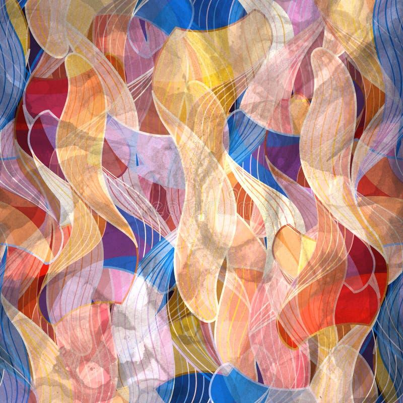 Fundo brilhante da aquarela abstrata com colorido diferente ilustração royalty free