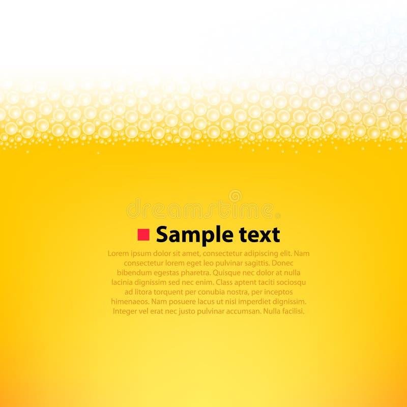Fundo brilhante da cerveja espumosa ilustração stock