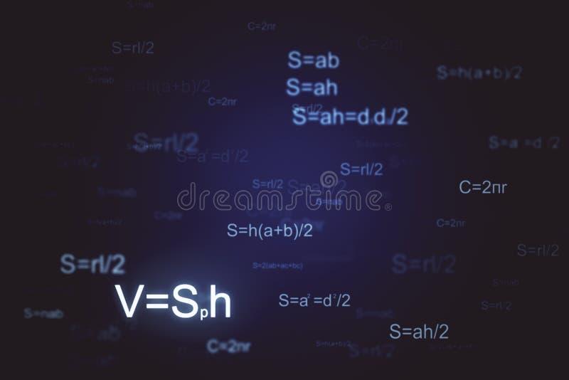 Fundo brilhante da matemática ilustração do vetor