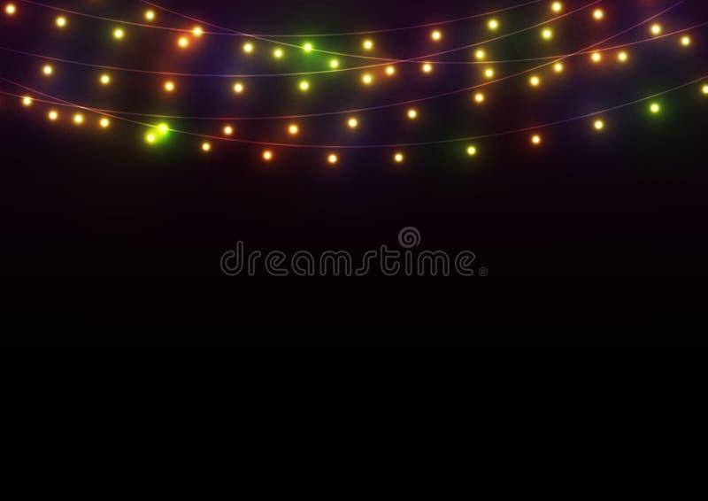Fundo brilhante das luzes ilustração do vetor