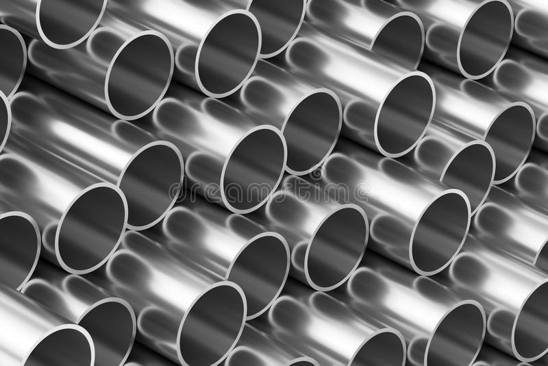 Fundo brilhante das tubulações de aço ilustração royalty free