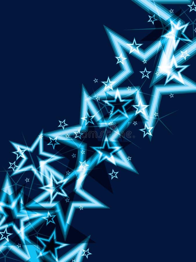 Fundo brilhante do azul da estrela ilustração do vetor