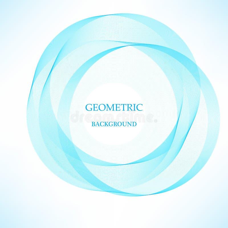 Fundo brilhante do círculo azul abstrato do redemoinho Ilustração do vetor para você projeto moderno ilustração stock
