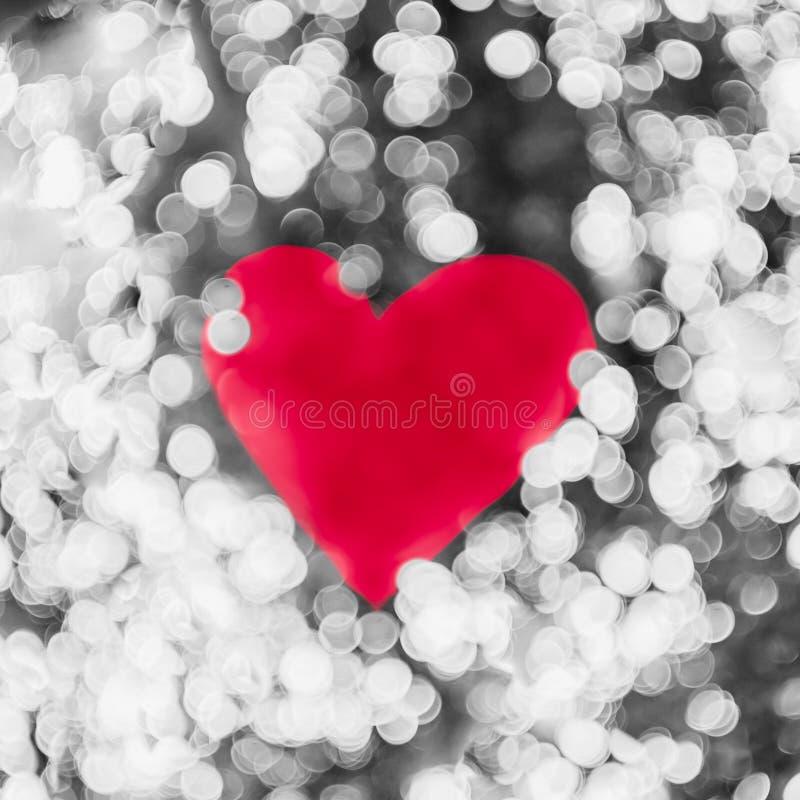 Fundo brilhante do dia de Valentim da luz do bokeh do coração imagem de stock royalty free