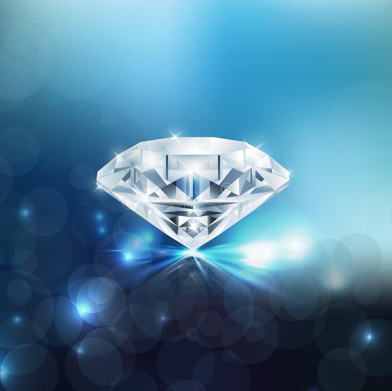 Fundo brilhante do diamante ilustração do vetor