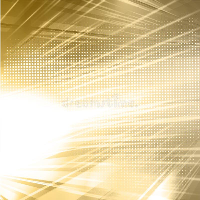 Fundo brilhante do molde do ouro abstrato ilustração royalty free