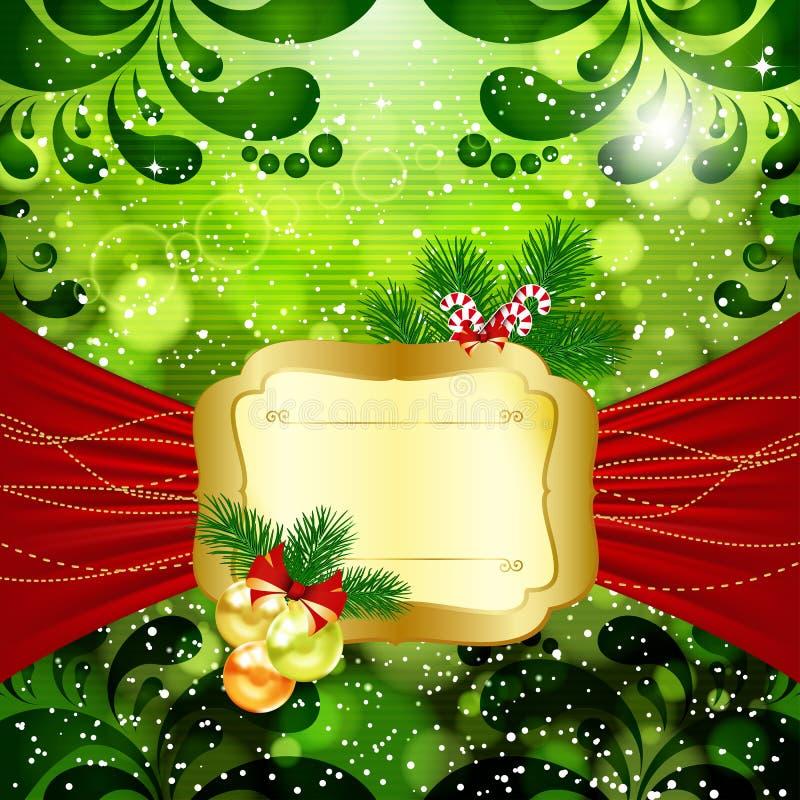 Fundo brilhante do Natal ilustração do vetor
