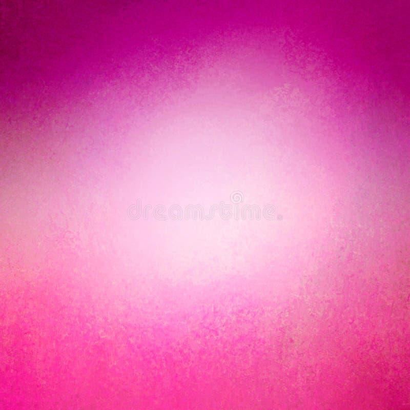 Fundo brilhante do rosa quente com beira roxa e disposição afligida da textura do vintage ilustração stock