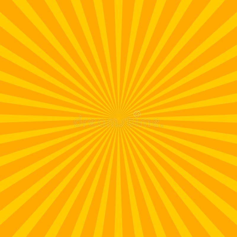 Fundo brilhante do sunburst do starburst com li regular da irradiacão ilustração do vetor