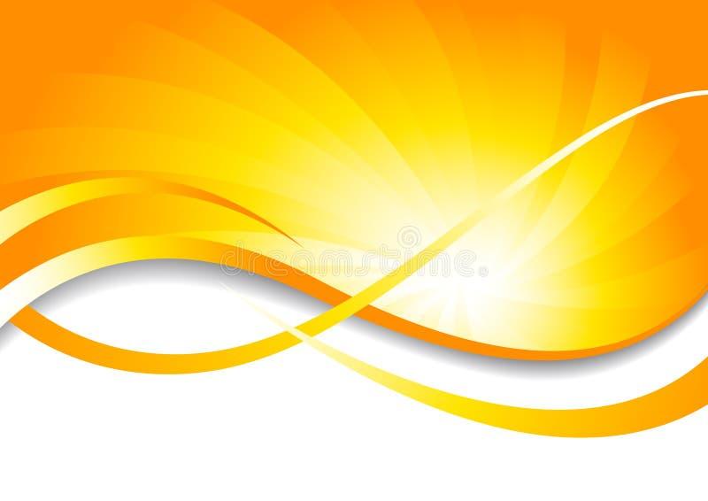 Fundo brilhante do vetor no amarelo ilustração royalty free