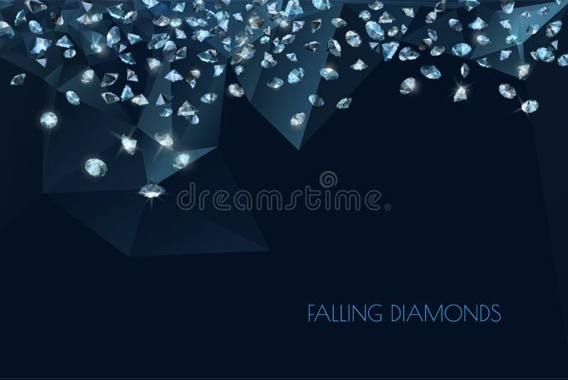 Fundo brilhante dos diamantes ilustração stock