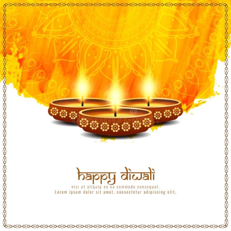Fundo brilhante feliz abstrato de Diwali ilustração stock