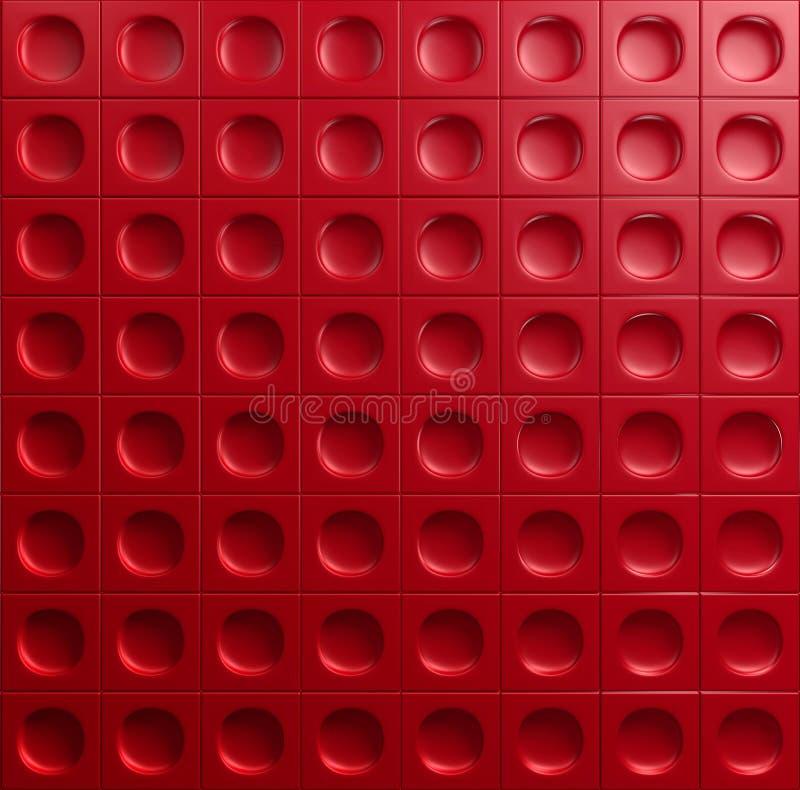 Fundo brilhante metálico industrial vermelho ilustração do vetor