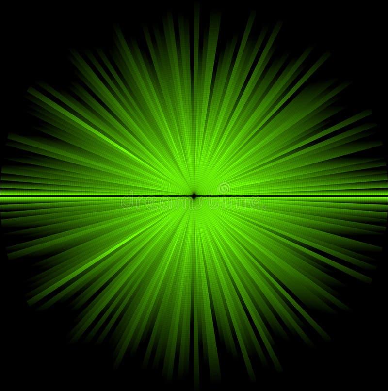 Fundo cósmico verde abstrato