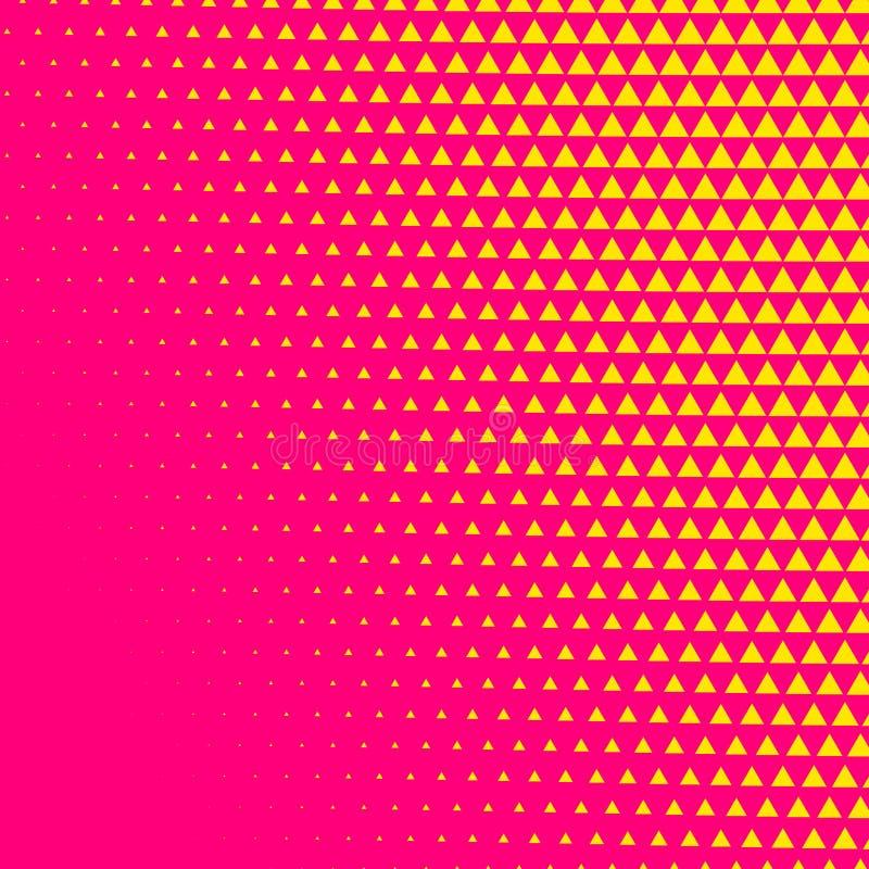 Fundo cômico da reticulação do estilo do triângulo cor-de-rosa ilustração do vetor