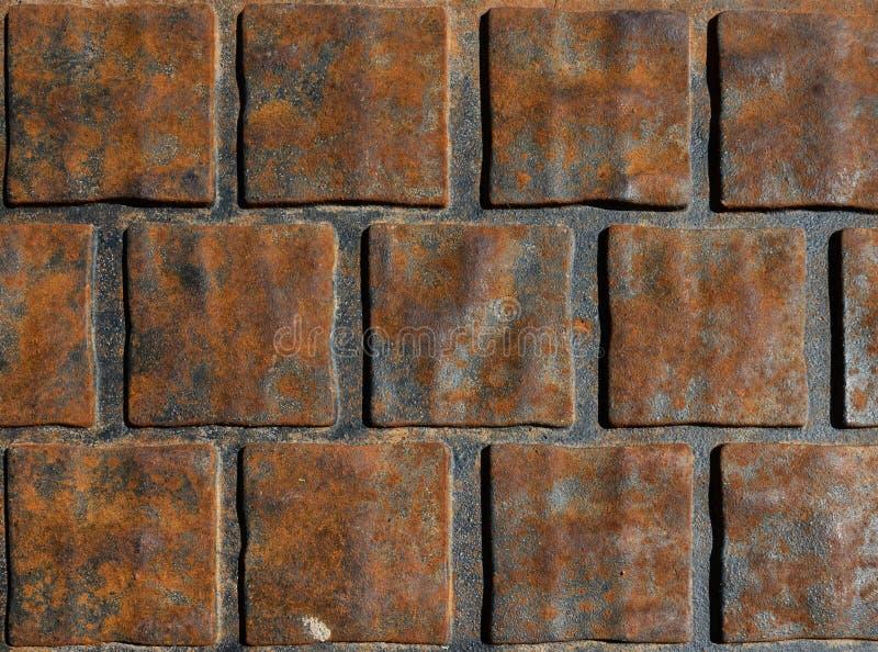 Fundo cúbico abstrato do metal oxidado fotografia de stock