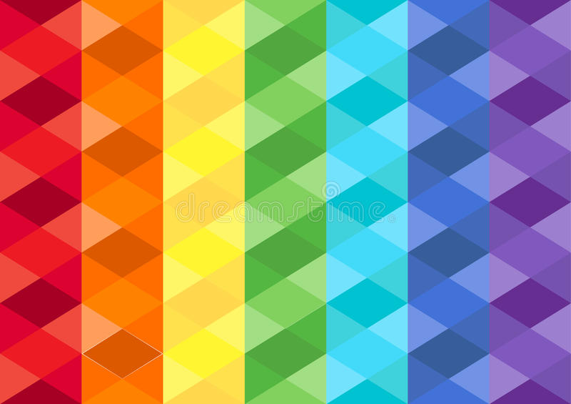 Fundo cúbico do arco-íris imagens de stock royalty free