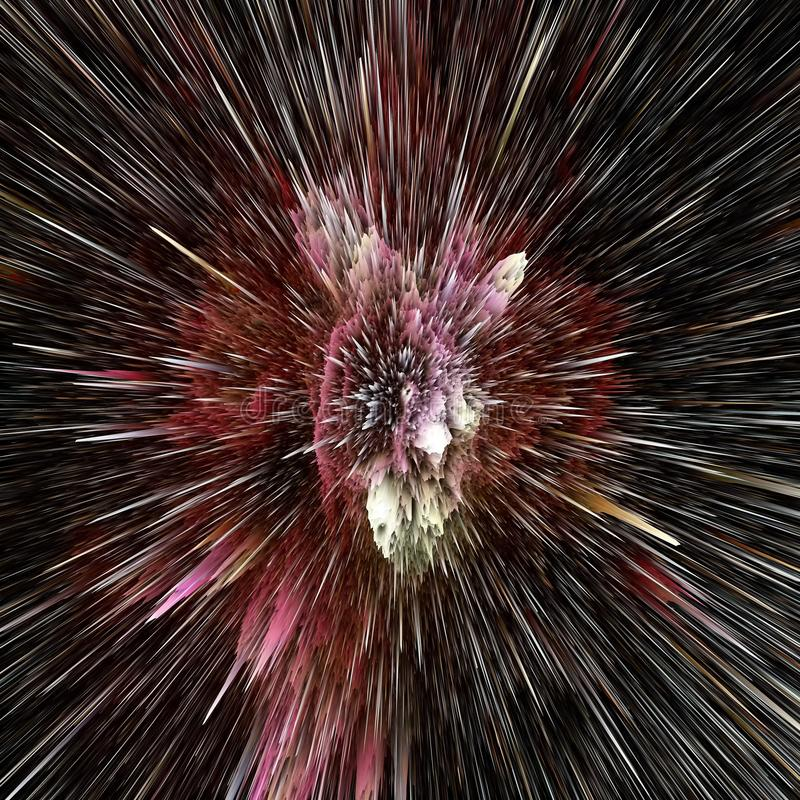 Fundo c?smico do sum?rio colorido da gal?xia Universo brilhante da fantasia Cosmos profundo Explora??o da infinidade ilustra??o 3 fotos de stock