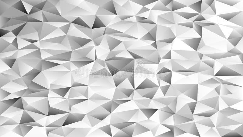 Fundo caótico abstrato geométrico do teste padrão do triângulo - projeto do vetor do mosaico dos triângulos cinzentos ilustração stock