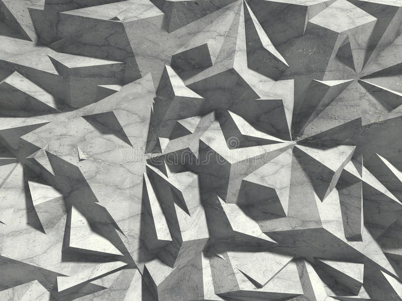 Fundo caótico concreto da parede do teste padrão da arquitetura abstrata ilustração do vetor